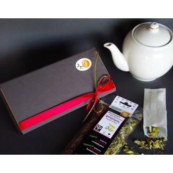 Δώρο τσάι βοτάνων σε κασετίνα με ακουαρέλα
